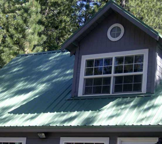 Metal roof by Bill Wright, Truckee Roofing Contractor